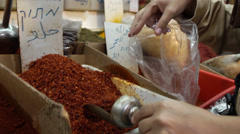 Market spices 0411 4 - stock footage