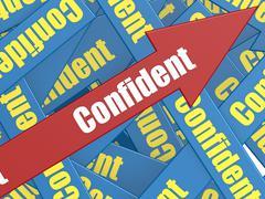 Confident arrow - stock illustration