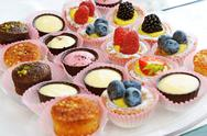 Stock Photo of assorted delicious looking cupcakes