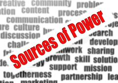 Sources of Power - stock illustration
