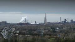Factory pollution ruhr area 11262 Stock Footage