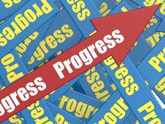 Progress arrow - stock illustration