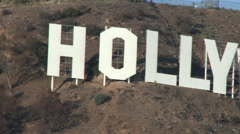 Hollywood sign and tourists 4k Stock Footage