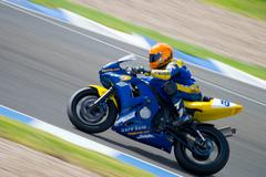pilot of motorcycling of supersport in the spanish championship of velocity ( - stock photo