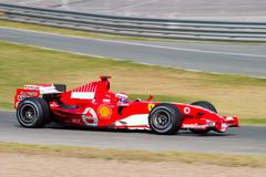 scuderia ferrari f1, marc gene, 2006 - stock photo