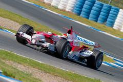 team toyota f1, ricardo zonta, 2006 - stock photo