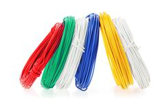 Coils of color wires Stock Photos