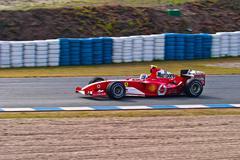 team ferrari f1, marc gene , 2004 - stock photo