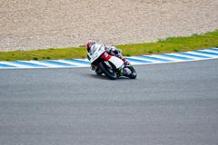 Louis rossi pilot of 125cc in the motogp Stock Photos