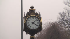 Still Shot Of The Clock In The Cismigiu Park In Bucharest Stock Footage