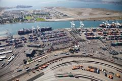 port of oakland - oakland, california, usa - stock photo
