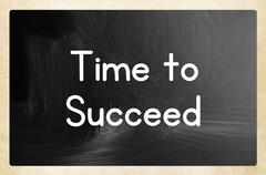 Stock Illustration of time to  succeed