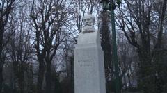 Still Shot Of The Statue Of B.P. Hasdeu Stock Footage