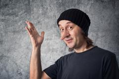 liar with long nose - stock photo