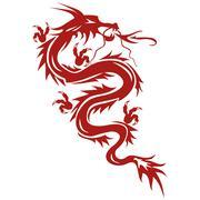 dragon - a symbol of oriental culture - stock illustration