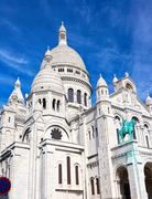 Sacre Coeur in Paris - stock photo