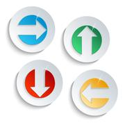 modern button set with arrow sign - stock illustration