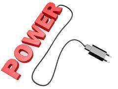 Power cord - stock illustration