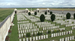 The Dud Corner Cemetery, Loos, Pas de Calais, France. Stock Footage