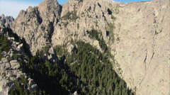 Aerial corsica bavella mountains Stock Footage