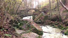 "Waterfall in ""Little Switzerland"" ( Luxembourg) Stock Footage"