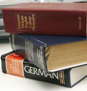 pile of dictionaries - stock photo