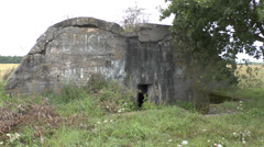 The Hitler Bunker, Fromelles, France. Stock Footage