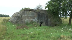 The Hitler Bunker, Fromelles, France. - stock footage