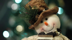 Christmas decoration with Christmas toys Stock Footage