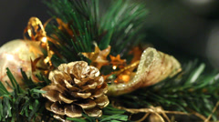 Christmas decoration with Christmas toys - stock footage