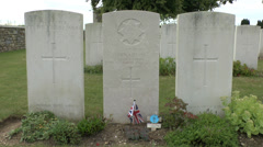 The St Marys Advanced Dressing Station cemetery, Haisnes, Pas de Calais, France. Stock Footage