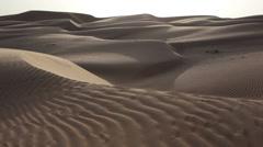 Sand dunes in Oman desert - stock footage