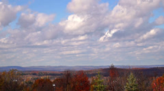0840 Amazing clouds over Warwick, NJ  Stock Footage