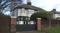 The Beatles - Mendips, the childhood home of John Lennon Stock Footage