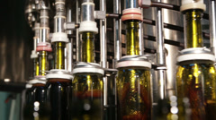 Wine Filling Technology At the Plant - stock footage