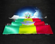 Flag Ethiopia quality designer flag Stock Illustration