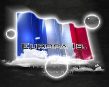 Flag EuropaIs quality designer flag Stock Illustration