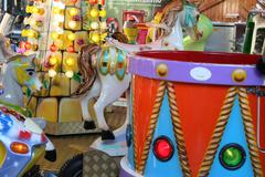 Closeup of kermis carousel Stock Photos