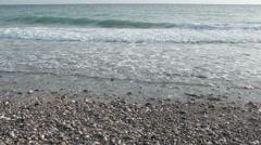 Summer seashore : the wawes splashing sandy coast Stock Footage