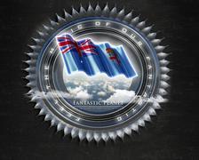 Flag Fiji quality designer flag - stock illustration
