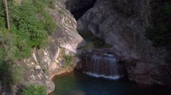 Aerial corsica cascade Stock Footage