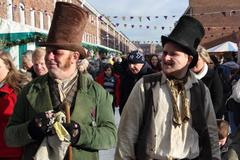 Victorian men - stock photo