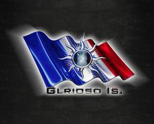 Flag GlriosoIslands quality designer flag - stock illustration