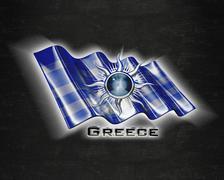 Flag Greece quality designer flag - stock illustration