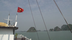 Cruise ship with vietnamese flag Stock Footage