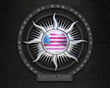 Flag JarvisIs quality designer flag - stock illustration