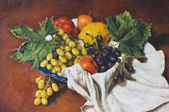 oil painting of a still life - stock illustration