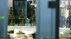 Corking Filled Wine Bottles - stock footage
