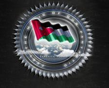 Flag Jordan quality designer flag - stock illustration