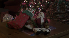 Christmas Stockings in front of Xmas Tree - 4K Ultra HD Stock Footage